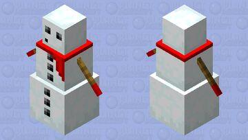 snow dude Minecraft Mob Skin