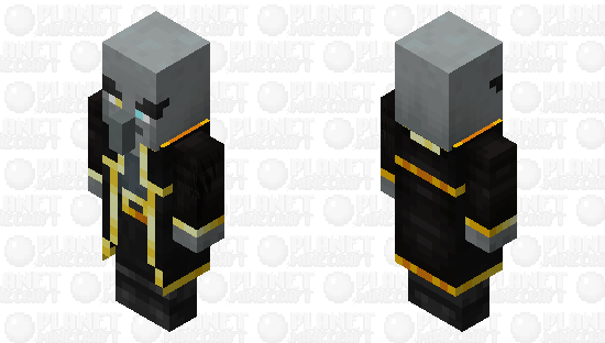 Evoker re-texturing/ v1 / level 3 / gold Minecraft Skin