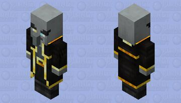 Evoker re-texturing/ v1 / level 3 / gold Minecraft Mob Skin