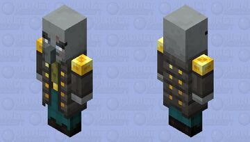 The Vindicator (Armor Gold) (Retexture) (Without Moustach/Mustach) Minecraft Mob Skin