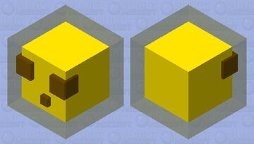 Block of living gold protected by the golden arm! Minecraft Mob Skin
