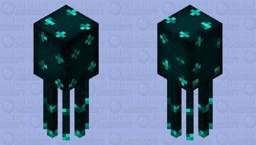 Deep Sea Glowsquid Minecraft Mob Skin