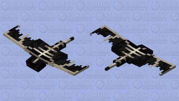 The end Phantom or EnderWing Minecraft Mob Skin