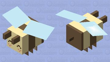 cartoon-bee Minecraft Mob Skin