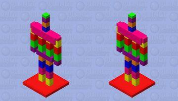 Rainbow 🌈 Armour stand Minecraft Mob Skin