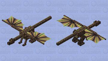 Arlequin dragon Minecraft Mob Skin