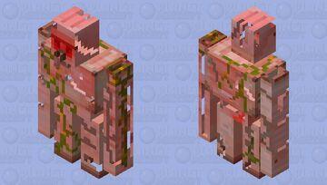 Hell Iron Golem | HELL IRON GOLEM Minecraft Mob Skin