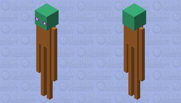Grass Block Enderman Minecraft Mob Skin