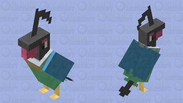 chatot parrot skin Minecraft Mob Skin