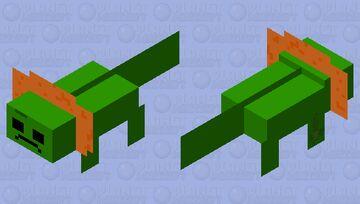 Bad Hair Day For Slimey Axolotl Minecraft Mob Skin