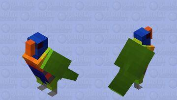 Lóris-arco-íris (Trichoglossus moluccanus) Minecraft Mob Skin