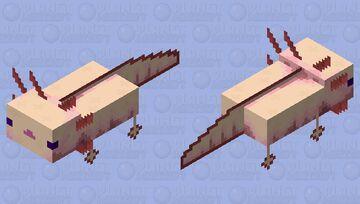 Multipixel albino axolotl / remade Minecraft Mob Skin