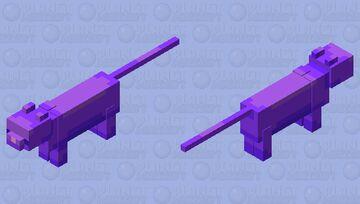 Kawaii Purple Cat Minecraft Mob Skin