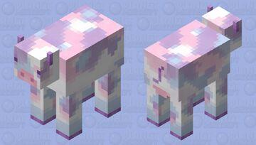 Tie-dye cow Minecraft Mob Skin