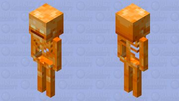 Fiery Skeleton (looks better without shadows) Minecraft Mob Skin