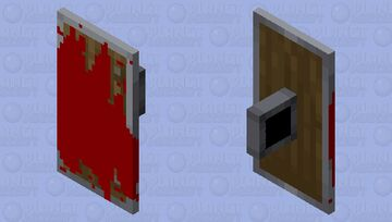 Bloody shield Minecraft Mob Skin