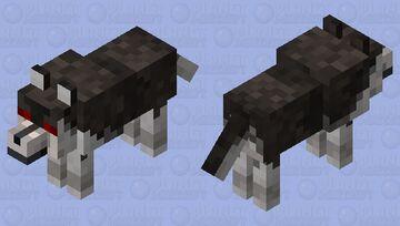 Husky is mad Minecraft Mob Skin