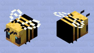 Simple Black and Yellow Bee Minecraft Mob Skin