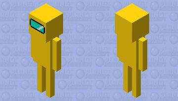 Yellow sus skeleton Minecraft Mob Skin