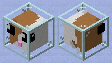 Hamster in a  glass ball Minecraft Mob Skin
