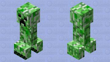 Mad creeper Minecraft Mob Skin