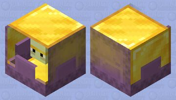 Extremely bad gold shulker Minecraft Mob Skin