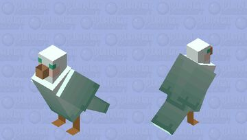 Pastel Collection: blue seagull Minecraft Mob Skin