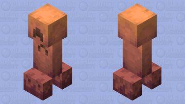 Gold Creeper Minecraft Mob Skin