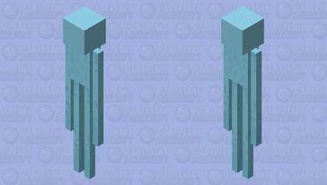 Icy Ender Creeper Minecraft Mob Skin