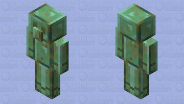 Copper golem oxidized (request by Xillager) Minecraft Mob Skin