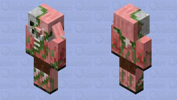 This is what I think the zombified piglin might look like in the past Minecraft Mob Skin
