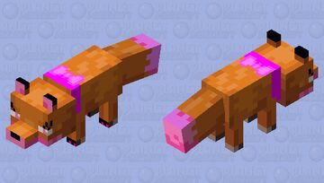 Girly girl fox Minecraft Mob Skin