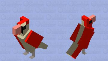 Half-Female, Half-Male Cardinal Minecraft Mob Skin
