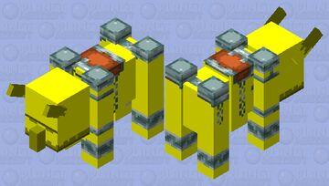 Golden Ravager Minecraft Mob Skin