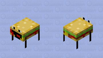 Burger-olotl Minecraft Mob Skin