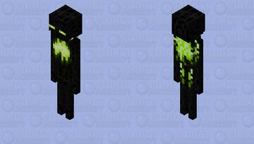 Enderman Radioactive or Toxic / Remade Re-texturing / Minecraft Dungeons:Echoing Void Minecraft Mob Skin