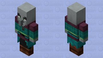 Illager / From: Warped Forest / civilized variant / Remade Re-texturing Minecraft Mob Skin
