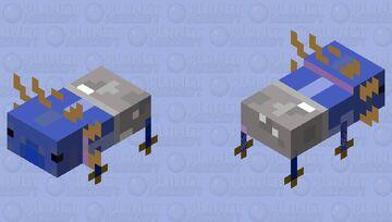 blue bucket axolotl Minecraft Mob Skin