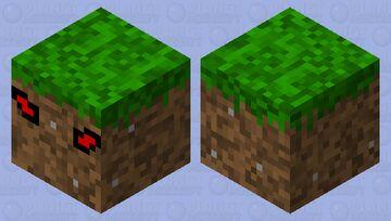Suspicious grass block Minecraft Mob Skin
