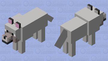 Simplified Wolf Minecraft Mob Skin