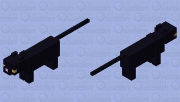Black Cat Minecraft Mob Skin