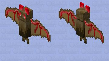Abyssal bat but I actually spent time and effort. Minecraft Mob Skin