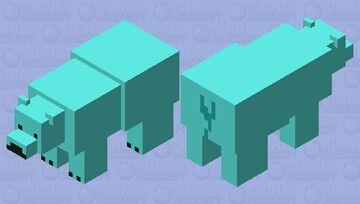 blue polar bear Minecraft Mob Skin