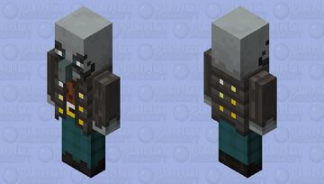 The Armor Vindicator/Vindicator Brute (Armor Gold) (Retexture) (With Mustach) Minecraft Mob Skin