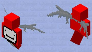 Dream Came From Heaven (Wings) (Red) Minecraft Mob Skin