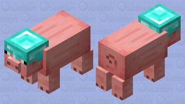 Pig With Diamond Helmet Minecraft Mob Skin