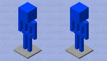 Blue Armour Stand with Metal base Minecraft Mob Skin
