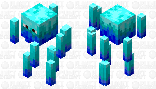 Blue Flame Blaze Minecraft Skin