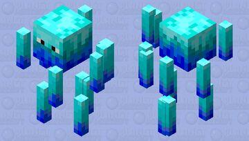 Blue Flame Blaze Minecraft Mob Skin