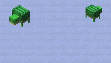 "turtle helmet / from the new dungeons DLC ""Hidden Depths"" Minecraft Mob Skin"